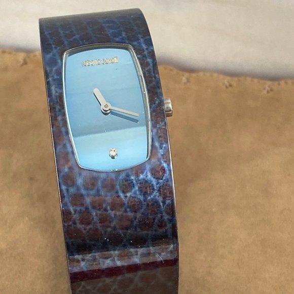 Roberto Cavalli Bangle Bracelet Cuff Watch